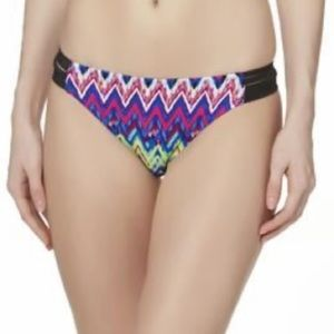 NWT Bongo Multicolor Zigzag Pattern Side Straps